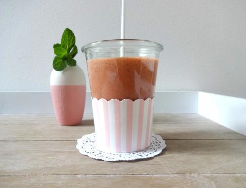 Protein trifft Erdbeer-Orangen-Smoothie